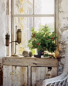 Stone cottage - very rustic. Goes with the feel of the outside.