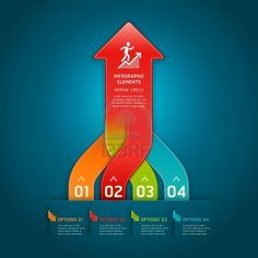 Colorful modern arrow circle number options banner  Vector illustration  can be used for workflow layout, diagram, web design, infographics  Stock Photo