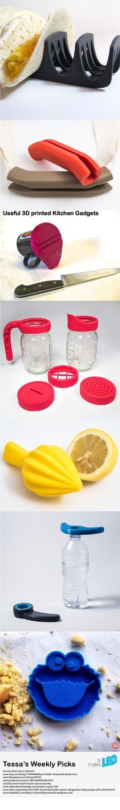 www.bestofthekitchen.com - Explore lots of other wonderful tips to go in the kitchen! 3d Printer Designs, 3d Printer Projects, 3d Projects, 3d Design, Print Design, Useful 3d Prints, 3d Templates, 3d Printed Objects, 3d Printed Stuff