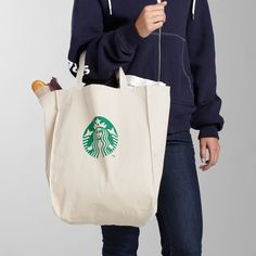 Starbucks® Canvas Grocery Tote