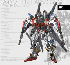 GUNDAM GUY: EX Machina: FA 007 Full Armor G III Ver. Ex Machina - Concept Art