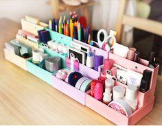 Storage Folding Paper Easy Box Desk Decor Stationery MakeUp Cosmetic Organizer