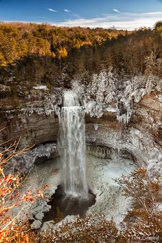 Fall Creek Falls State Park is located in Spencer, Tennessee and is one of the most beautiful state parks in the state with waterfalls, valleys and hiking trails. The Places Youll Go, Places To See, Places To Travel, Beautiful World, Beautiful Places, Falls Creek, Destination Voyage, Beautiful Waterfalls, Adventure Is Out There