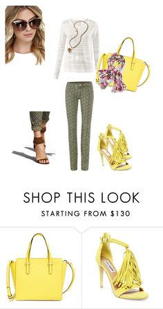 """ditsy skinny jeans - cabi"" by paola-peay on Polyvore featuring CAbi, Kate Spade, Steve Madden, Lulu*s and CAbiclothing"