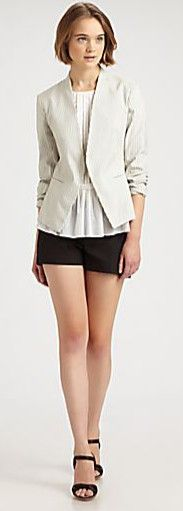 open jacket with shorts