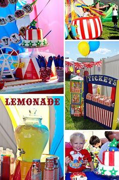 Carnival Birthday Party Ideas --Never too early to start thinking about their 2nd bday party;-)