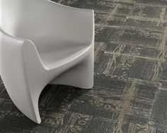 Mohawk's Braided Stream Modular adds floor interest to the very open office