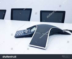 Business conference phone set up in the meeting room. Communication technology for voice conference meeting for long distance office or workplace , Conference Meeting, Long Distance, Workplace, Communication, Photo Editing, Royalty Free Stock Photos, Technology, Phone, Business