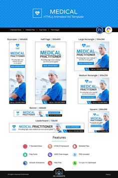 MEDICAL BANNER Ad banner or medical banner is designed to provide good health and medical services. This banner will Medical Brochure, Medical Logo, Social Media Ad, Social Media Design, Health Ads, Banner Design Inspiration, Graphic Design Lessons, Web Banner, Banners