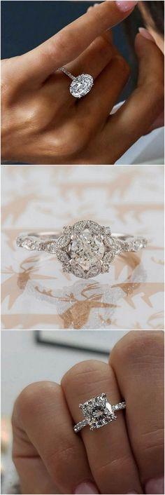 Jewelry & Watches 18k Or Rose Certifié Gia 3 Rangées Motif Fiançailles Diamant Bague Du Halo 3.20