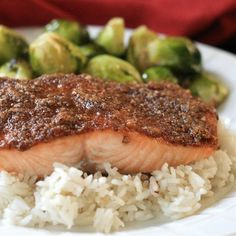 "Paleo Pecan-Maple Salmon |""The topping caramelizes with nice crispy edges. So good!"""