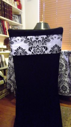 Simple Damask chair bands!