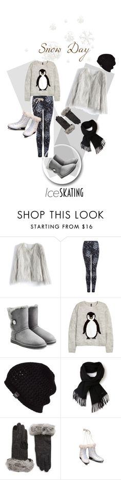 """""""Ice Skating Style"""" by kari-c ❤ liked on Polyvore featuring Chicwish, Dex, UGG Australia, H&M, Lacoste, Echo and iceskatingstyle"""
