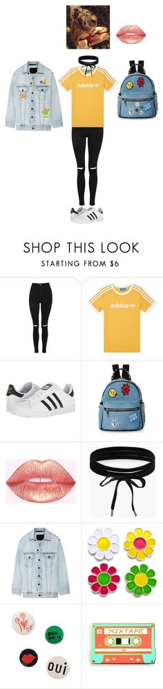 """""""kkihbikjbjuigh"""" by jsteely-1 on Polyvore featuring Topshop, adidas, IMoshion, Boohoo, Alexander Wang, Laser Kitten and Clare V."""
