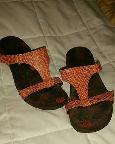 Orthaheel-Molly-Womens-Orthotic-Slide-Sandals-Shoes-Coral-sz-8