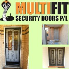 Best security doors you'll find in Melbourne. Specialised design of window grilles, security door mesh and handles. Contact them for your installation needs and be safe. Security Doors, Melbourne, Windows, Design, Home Decor, Decoration Home, Room Decor, Home Interior Design, Ramen