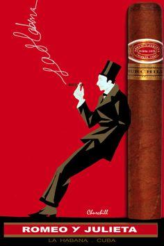 """Romeo y Julieta / Vintage Cigar Poster- notice the smoke, """" la habana."""""""