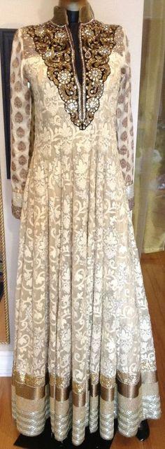 LONG Bridal Designer Salwar Kameez Indian Traditional White Party Anarkali Suit  #Anarkalisuit #LongAnarkali