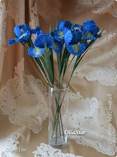 HOW TO MAKE IRISES FROM CORRUGATED PAPER ~ Crazzy Craft