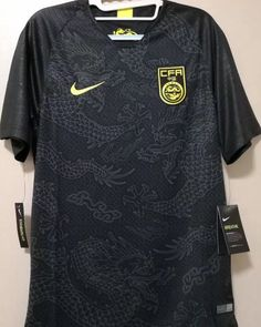 China Reject 2018 Nike Away Kit, 'Black Dragon' Design Unlikely to Be Ever Released - Footy Headlines Sports Uniforms, Team Wear, Dragon Design, Black Dragon, Nike, Mens Tops, Soccer, China, Fashion