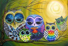 """Family of Owls"" par Cinnamon Cooney"
