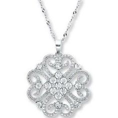 Kay Jewelers Diamond Necklace 1/10 ct tw Round-cut Sterling Silver