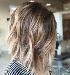 balayage-wavy-lob-hair-styles-2017-short-haircuts