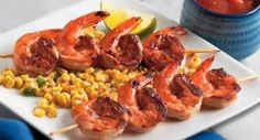 Spicy Shrimp Kabobs: Serve these tasty spicy kabobs over rice or use short skewers to serve as appetizers.