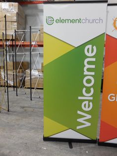 church welcome banners