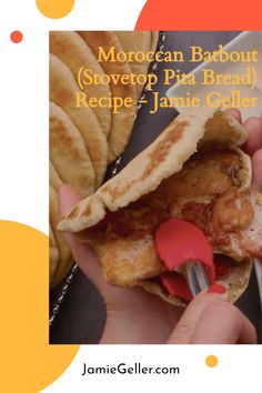 This Moroccan bread is very similar to traditional pita, except it's made on the stovetop instead of the oven. It has a 'pocket' just like a pita so you can fill it with your favorite things: shawarma, pargit (chicken thighs), falafel, sabich, or just dip it in some hummus. The possibilities are endless. The flavor is unique because we combine all-purpose flour with whole wheat flour and semolina making these breads extra special. #vegan #bread #pita Vegan Bread, Pita Bread, Pita Recipes, Bread Recipes, Moroccan Bread, 5 Ingredient Recipes, Shawarma, Whole Wheat Flour, Falafel