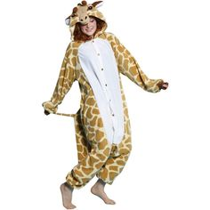 BCozy Giraffe Costume ($39) ❤ liked on Polyvore featuring costumes, giraffe costume and giraffe halloween costume