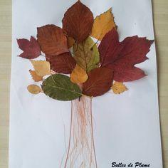 «C'est l'automne... Petite activité de saison avec des feuilles  #DIY #automne #autumn #leaf #feuille»