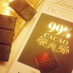 99% Cacao, Lindt Dark Chocolate [Photo by Natrual Nibs]  http://naturalnibs.com/home/2015/05/19/organic-ingredients-delivered-to-our-door/