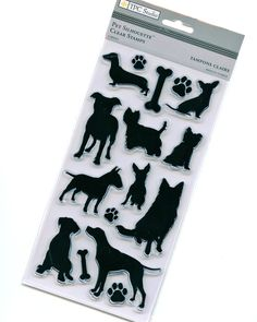 Dog Silhouettes - Clear Acrylic Stamps from TPC Studio. $6.99, via Etsy.