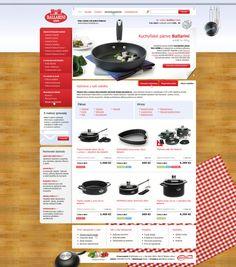 Induction Cookware shop by Roman Káčerek, via Behance