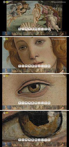 Botticelli's Birth of Venus, high resolution image from Haltadefinizione