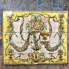 French Baroque Tile Mural 2 1/8 x 2 5/8 35 Tiles For your miniature project or doll house. Easy to use; simply remove tiles from adhesive backing