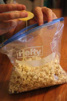 Flavored Popcorn In A Hefty Slider Bag