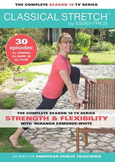 Classical Stretch Aging Backwards by Essentrics With Miranda Esmonde-White - DVD, HD DVD & Blu-ray Hip Stretching Exercises, Miranda Esmonde White, Arthritis In Fingers, Hip Pain Relief, Hip Flexibility, Mini Workouts, Cheer Workouts, Morning Workouts, Calorie Burning Workouts