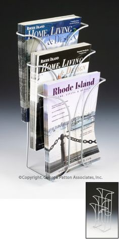 $6.67 @ displays2go.com.  For flyers, tip sheets, etc.  Less breakable than lucite.  Literature racks