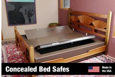 BedBunker hidden safes are ideal for concealing your  gold, silver, and other valuables. BedBunker safes come  in a variety of models - bed safes as well as hidden floor  safes. The ultimate in concealed safes!