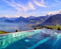 Breathtaking capture at the Hotel Villa Honegg, Switzerland cc: @ninetychaser  Photo by @loucosporviagem