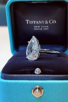 Engagements Rings : Picture Most Loved Tiffany Engagement Rings ❤️ tiffany engagement rings pear cut solitaire diamond white gold ❤️ See more: www. Tiffany Wedding Rings, Tiffany Engagement, Wedding Rings Solitaire, Bridal Rings, Solitaire Diamond, Diamond Rings, Sapphire Rings, Morganite Ring, Pear Cut Engagement Rings