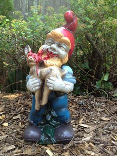 Zombie Garden Gnomes  if it wouldnt freak out the grandkids