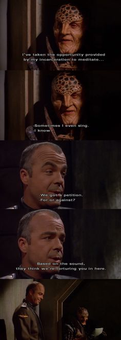 the relationship between Mr. Giribaldi and G'kar is so underplayed in the series, especially cosidering what G'kar does for Giribaldi early season 4. Babylon 5 rewatch 3x8