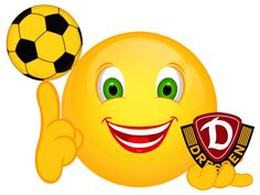Smiley – Dynamo Dresden Dynamo Dresden, Romantic Pictures, Animation, Am Meer, Tweety, Stickers, Humor, Cool Stuff, Gifs