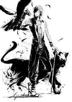 devil may cry, V / 新生兒 - pixiv Devil May Cry, Character Art, Character Design, Vampire Stories, Dmc 5, Dark Pictures, Girls Anime, Shadow Art, Dc Memes