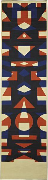 Angelo Testa; Screen-Printed Fabric Wall Hanging for Angelo Testa & Company, c1965.