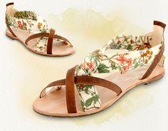 "Cholesburys ""Felicity"" sandals, handmade with vintage Osman Textiles fabric"
