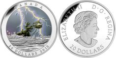 20 DOLLAR 2015 KANADA WEATHER PHENOMENON: SUMMER STORM PP - FARBIG ... Coin Collecting, Coins, Weather, Personalized Items, Summer, Canada, Coining, Summer Time, Rooms
